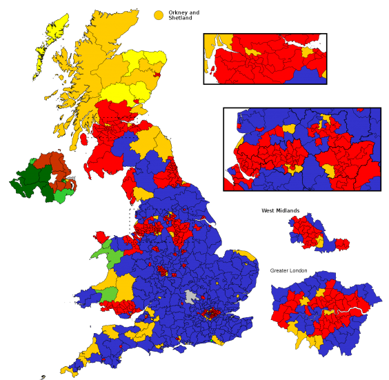 12 Maps That Help Show The General Election Result In A Different: Uk Election Map At Slyspyder.com