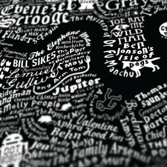 The literary map of london is just beautiful indy100 for Poster londra ikea