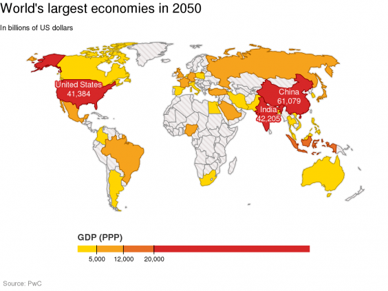 What The World Will Be Like In In Eight Maps And Charts - Us china map
