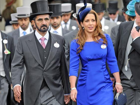 Sheikh Mohammed with Princess Haya Bint Al Hussein at Royal Ascot last year (Getty Images)