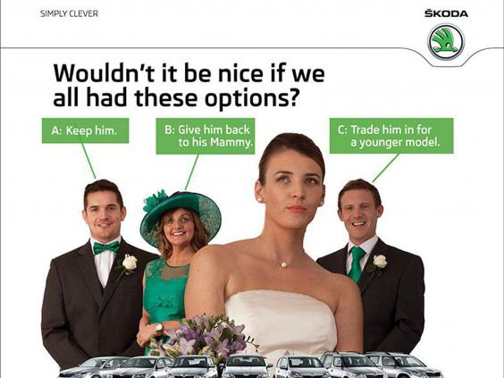 sexist skoda advert comes in ireland the