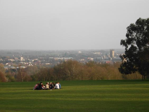 Canterbury Cathedral & city from UKC campus.jpg