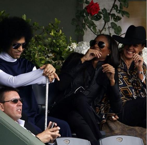 Prince Watches The French Open Singer Spends Match
