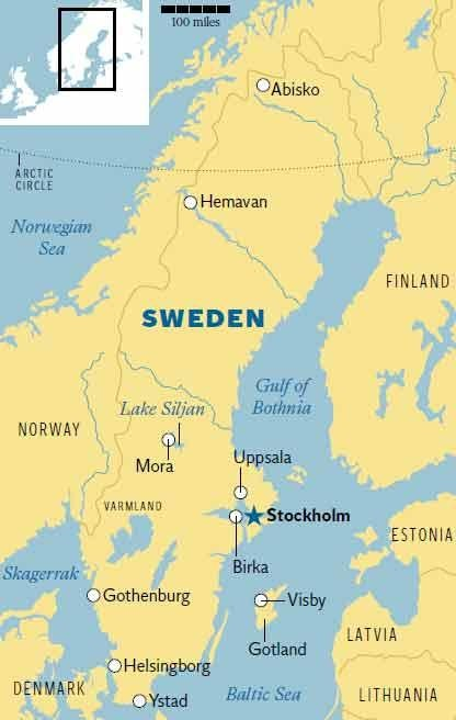 Family Sweden Travellers Guide The Independent - Sweden map lonely planet