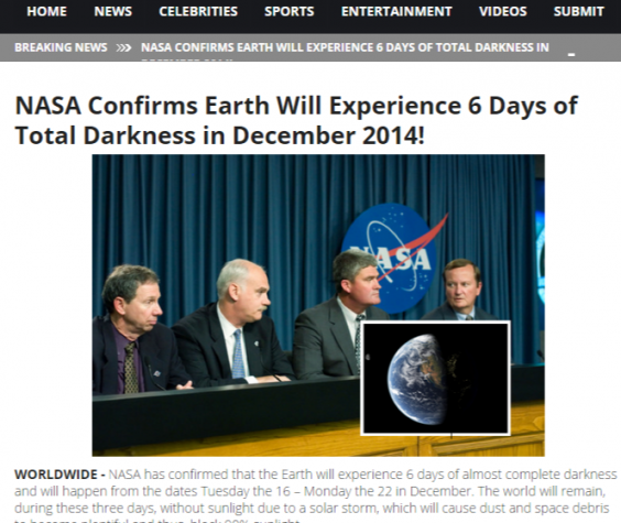 NASA Confirms Earth Will Experience 6 Days of Total Darkness in December 2014!.png