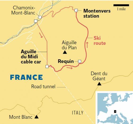 Chamonix night skiing Moonlight and magic by Mont Blanc The