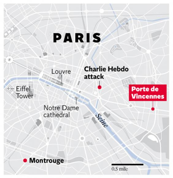 Paris shooting manhunt live both charlie hebdo suspects and kosher grocery store hostage taker - Subway porte de vincennes ...