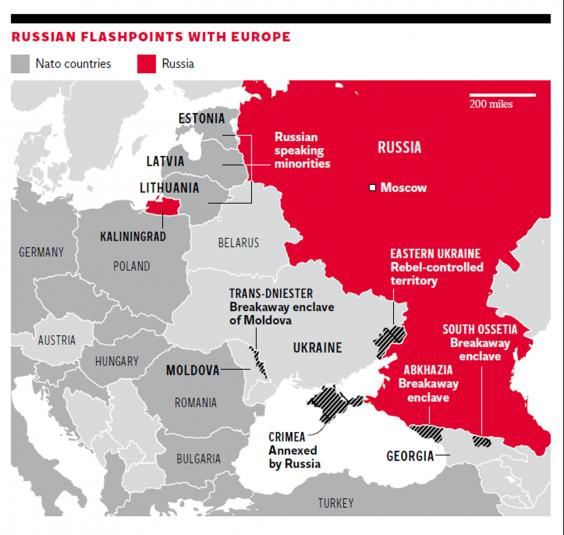 Ukraine crisis Inhabitants of the Baltic states fear that they