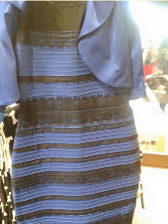 The blue and black (or white and gold) dress: Actual colour, brand ...