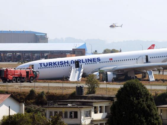 Turkish airlines flight tk 726 crash lands on nepal runway in dense fog the independent - Turkish airlines uk office ...