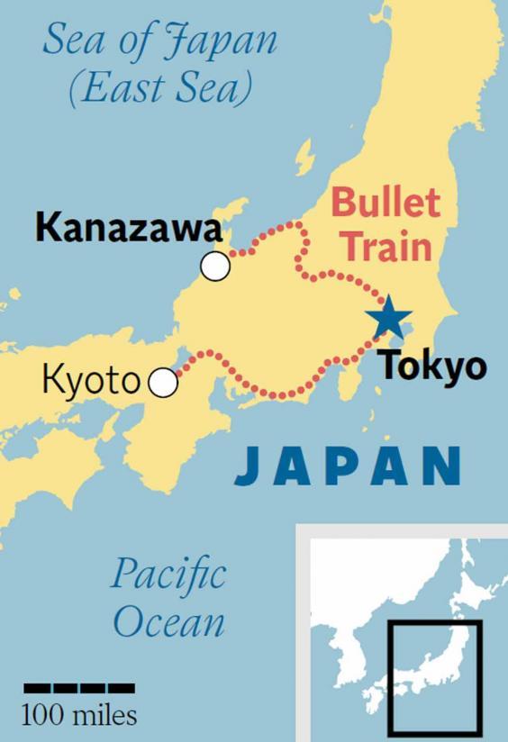 Kanazawa Japan The Bullet Train Is Opening Up The Countrys Edo - Japan map kanazawa