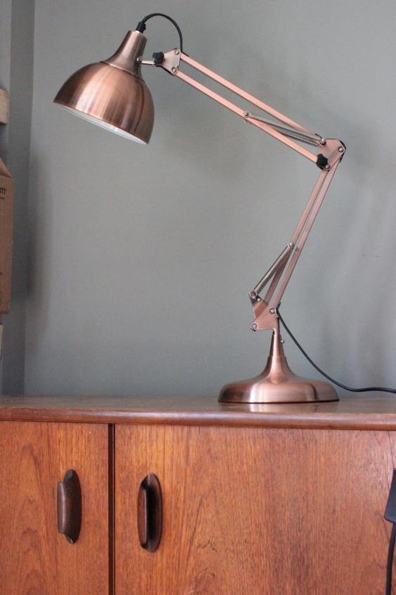 11 best table lamps for you forest and co copper angled table lamp1g mozeypictures Choice Image