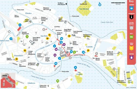 Venice Travel Tips Where To Go And What To See In Hours The - Venice biennale 2016 map