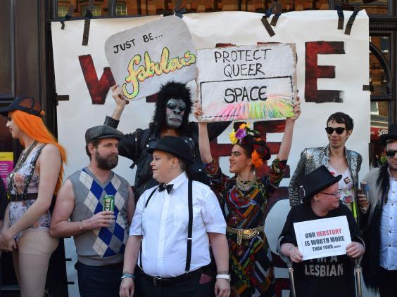 from Rafael black cap gay bar london