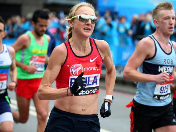 Ratcliff london peeing Paula marathon