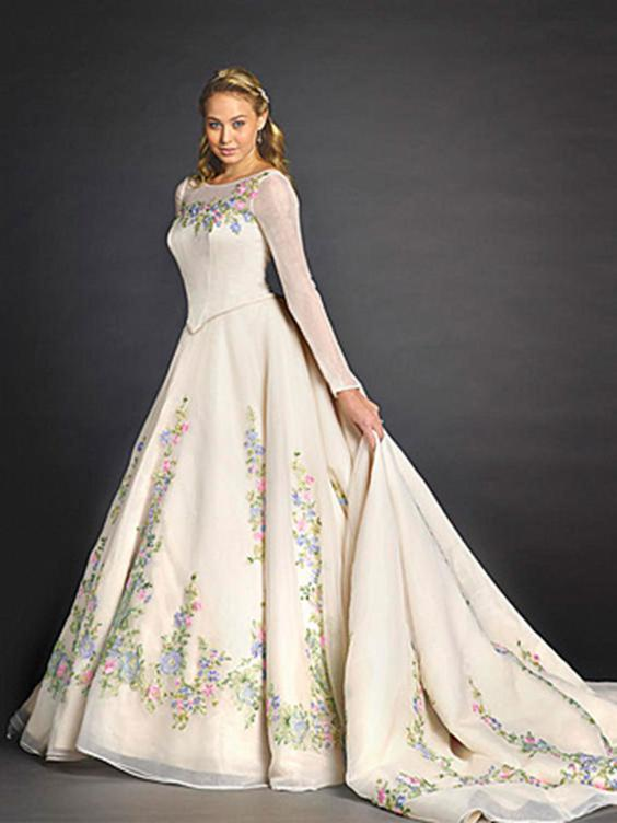 Disney inspired wedding dresses would you channel your for Disney style wedding dresses