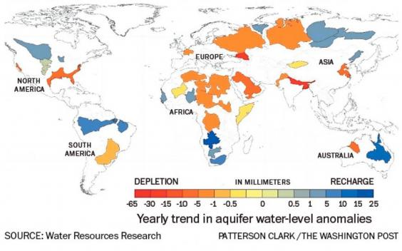 Nasa Data Shows The World Is Running Out Of Water The Independent - Healthiest aquifers in the us map
