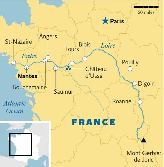 Loire Cruise Frances Longest River Welcomes Its First Cruise - Longest river in the us map