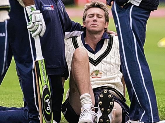 Image result for Glenn mcgrath injury 2005
