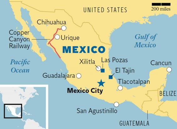 Secret Mexico Get beyond the beaches – Tourist Attractions Map In Mexico