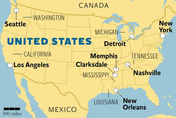 Memphis Tn On Us Map - Memphis tennessee on us map