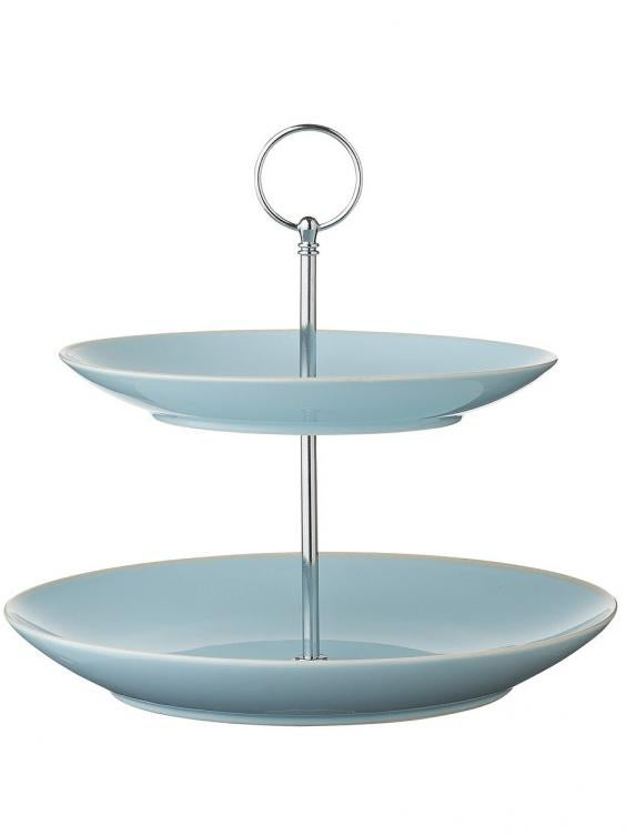 hereu0027s a clean nordic and slightly nostalgic twotiered stand from the danish design brand itu0027s glazed ceramic with a chrome handle and like most tiered