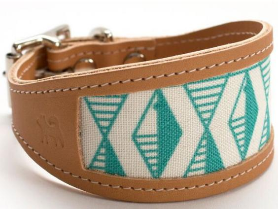 Emerald Green Geometric Sighthound Collar.jpg