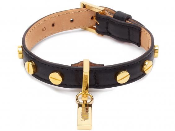 Frida Firenze Screw Stud Dog Collar in Black.jpg