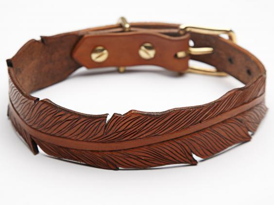Tooled Feather Collar.jpg