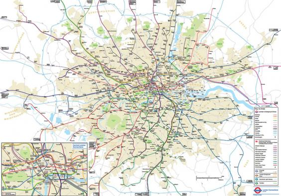 TfL forced to reveal secret geographically accurate London Tube – Underground Train Map London