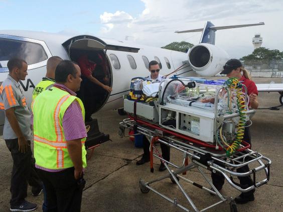 Plane prepares to leave San Juan in Puerto Rico to treat premature baby Haiden Morgan