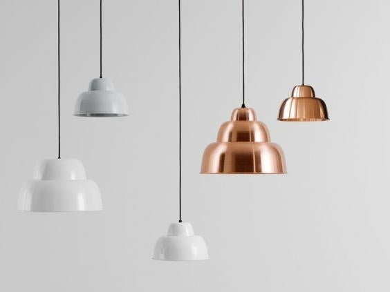 best pendant lighting. the rounded metallic shapes of levels lamp has us thinking vintage jelly moulds but real influence on its form is process metal spinning best pendant lighting a