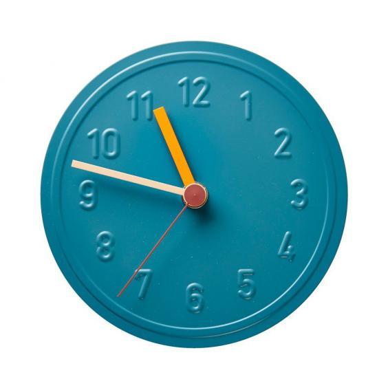 alu wall clock in verdigris