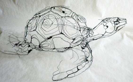 Portuguese Artist Makes Wire Animal Sculptures That Look Just Like