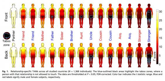 Body Map Shows Where Men And Women Are Comfortable Being Touched