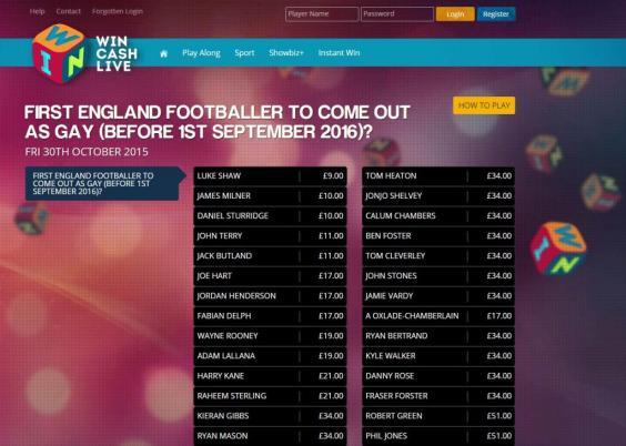 Gay premier league footballers betting