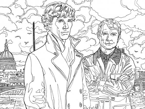 as well as offering people the chance to colour in the lastest incarnation of sherlock holmes and dr watson sherlock the mind palace includes puzzles to - Colouring Pictures Of People