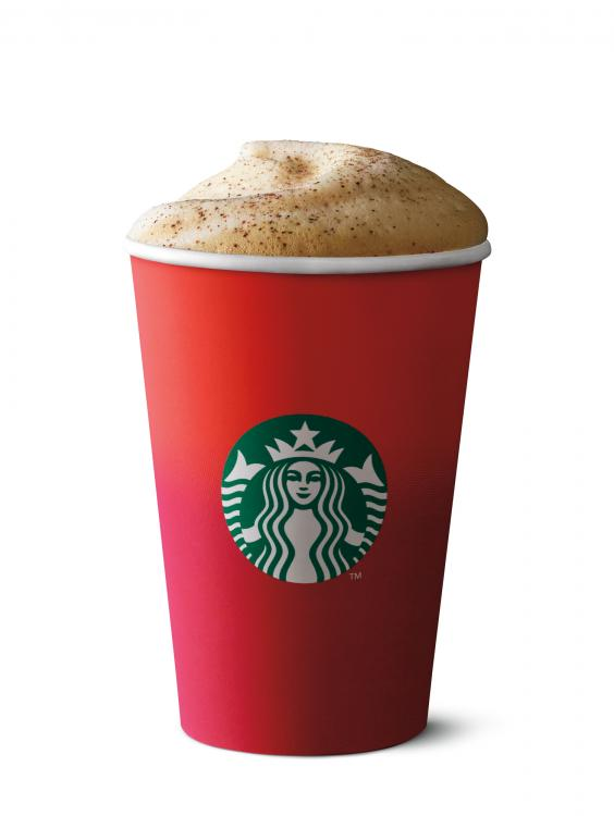 Starbucks red cups and Christmas drinks are back, including eggnog ...