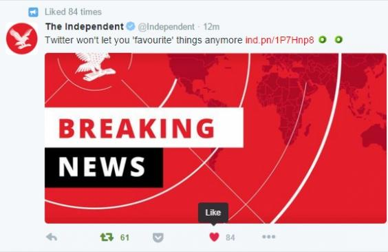 Twitter Hearts Likes Take Over From Favourites As Social Network
