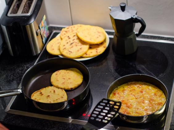 Kolombiya ekmeği:arpea