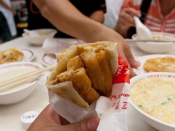 Çin'de kahvaltı