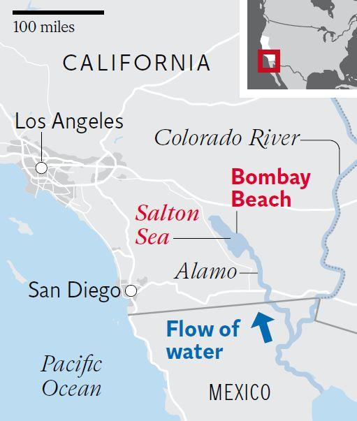 Salton Sea California Drought Could Soon See The States Largest - Salton sea on us map