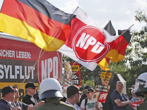 German court criticized for not banning neo-Nazi-linked party