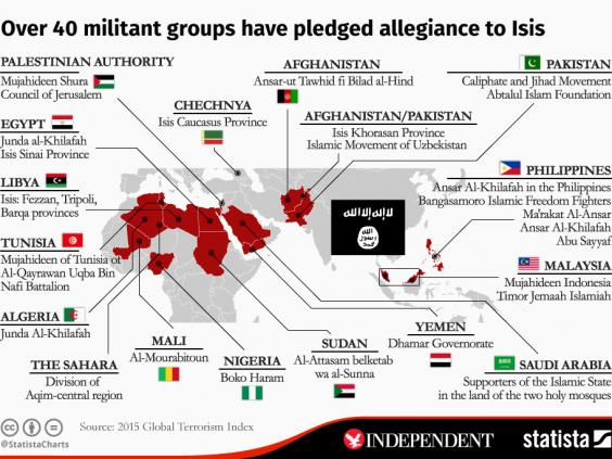 The Map Of Where Militant Groups Have Pledged Their Support To Isis