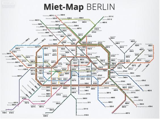 These German Rent Maps Shows Just How Overpriced London Is The - Berlin map in germany