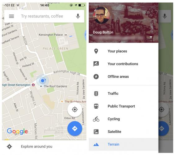 Open Google Maps Select Offline Areas From The Toolbar On The Left And Choose The Map You Want