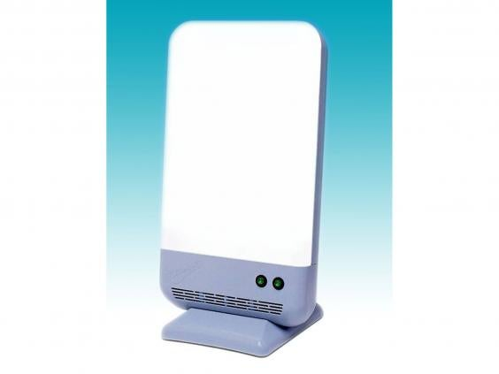 Fast, powerful and big, this is a light box for serious SAD sufferers. It  delivers 10,000 lux with a