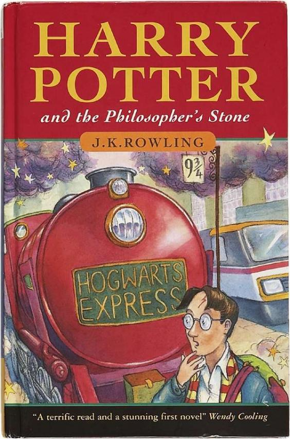Image result for harry potter and the philosopher's stone first edition