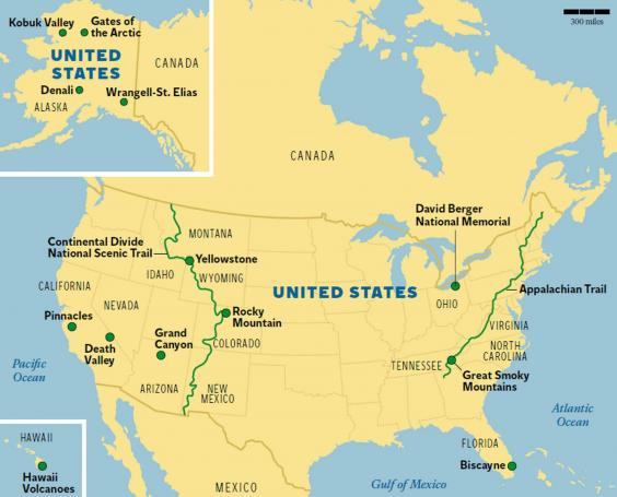 United States Map Showing Yellowstone National Park Yellowstone - Us continental divide map