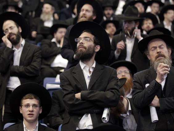 Ulta orthodox ashkenazic jews during a protest in jerusalem last year
